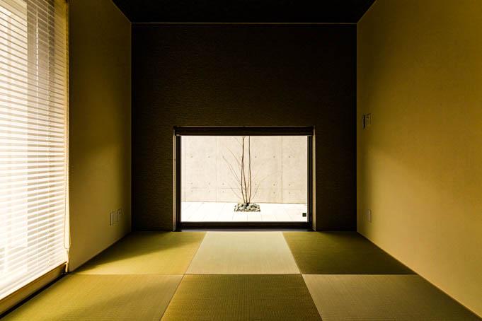 和室窓からの眺め
